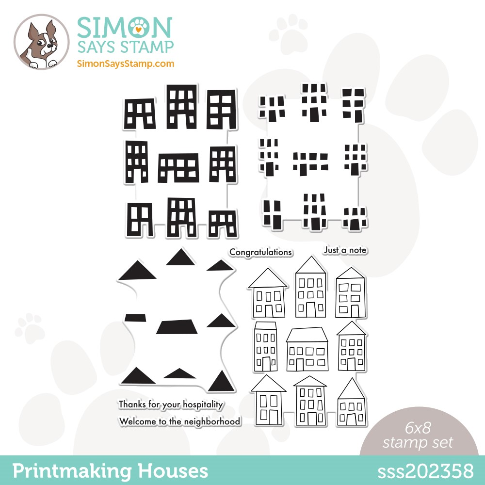 Simon Says Clear Stamps PRINTMAKING HOUSES sss202358 Stamptember zoom image