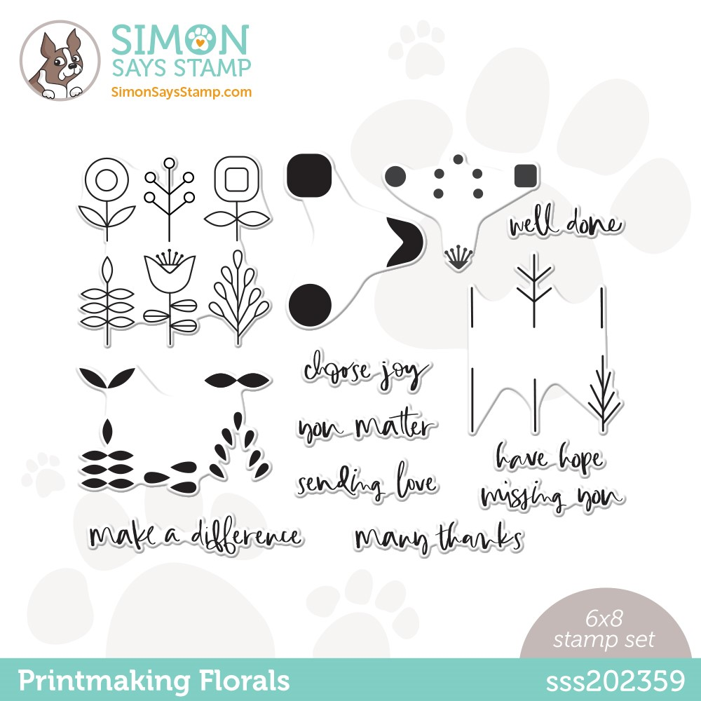 Simon Says Clear Stamps PRINTMAKING FLORALS sss202359 Stamptember zoom image
