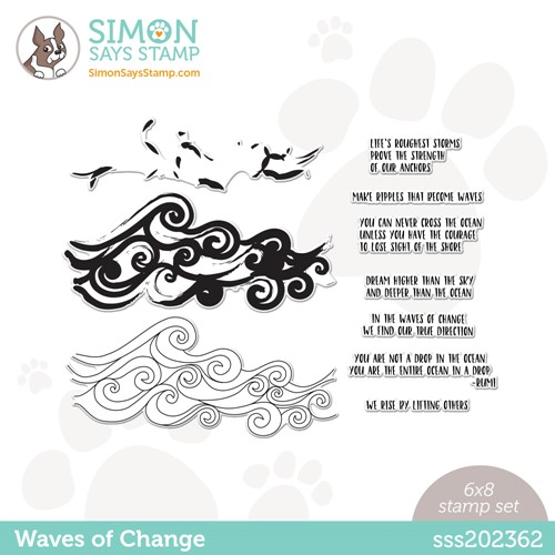 Simon Says Clear Stamps WAVES OF CHANGE sss202362 Stamptember Preview Image