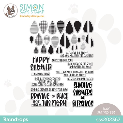 Simon Says Clear Stamps RAINDROPS sss202367 Stamptember Preview Image