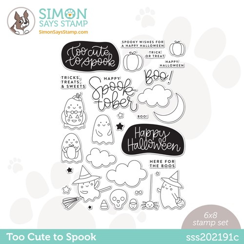 Simon Says Clear Stamps TOO CUTE TO SPOOK sss202191c Stamptember Preview Image