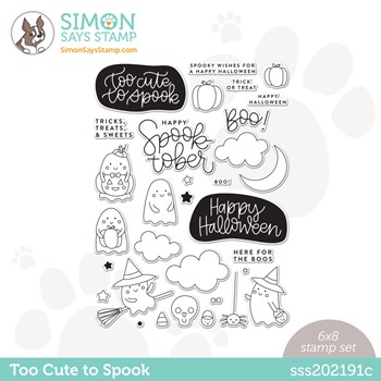 Simon Says Clear Stamps TOO CUTE TO SPOOK sss202191c Stamptember