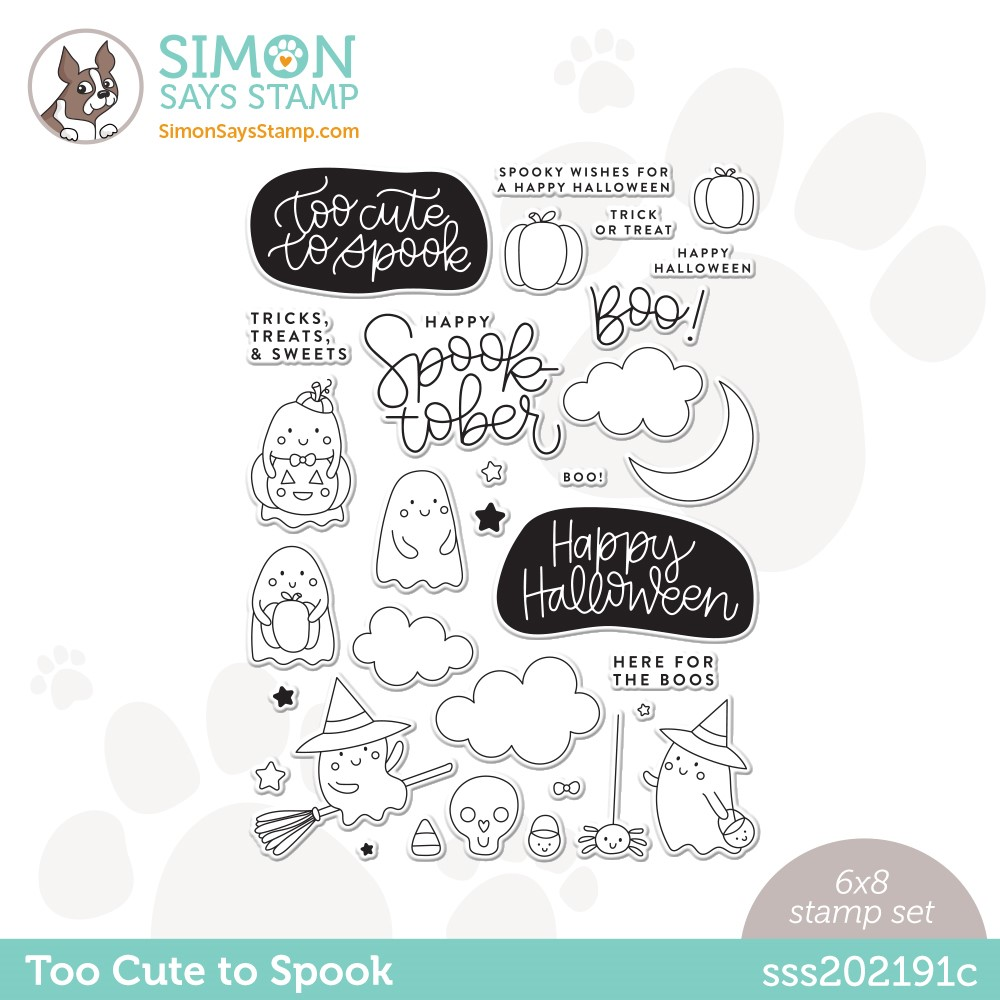 Simon Says Clear Stamps TOO CUTE TO SPOOK sss202191c Stamptember zoom image