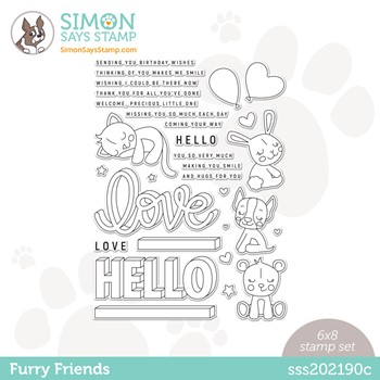 Simon Says Clear Stamps FURRY FRIENDS sss202190c Stamptember