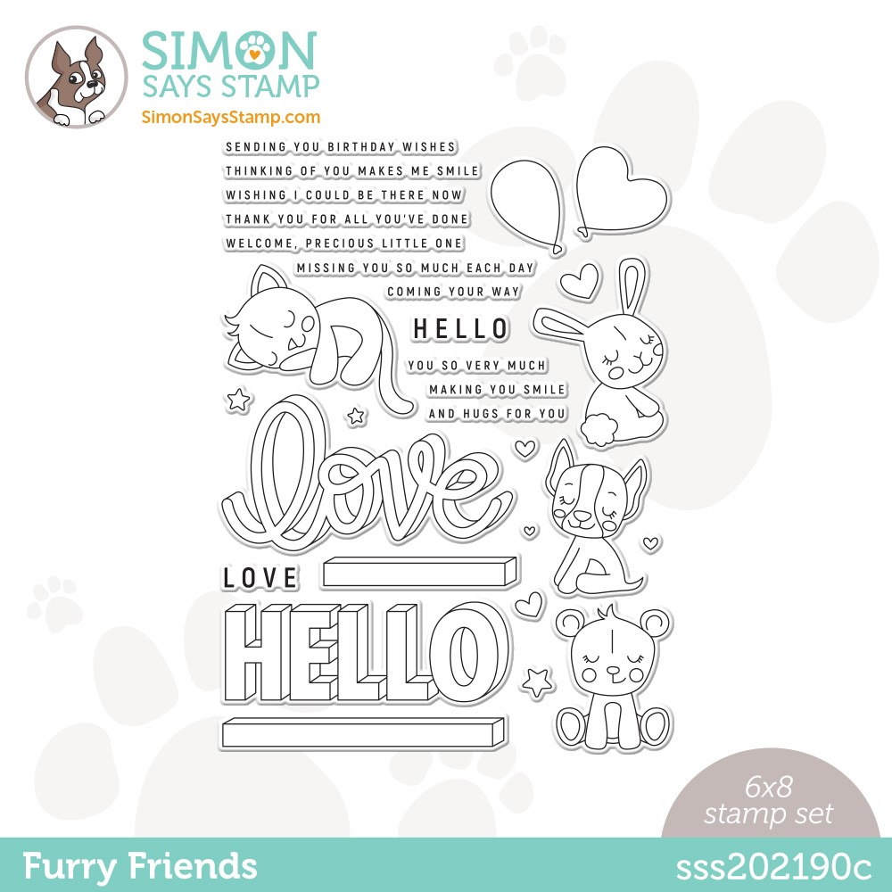 Simon Says Clear Stamps FURRY FRIENDS sss202190c Stamptember zoom image