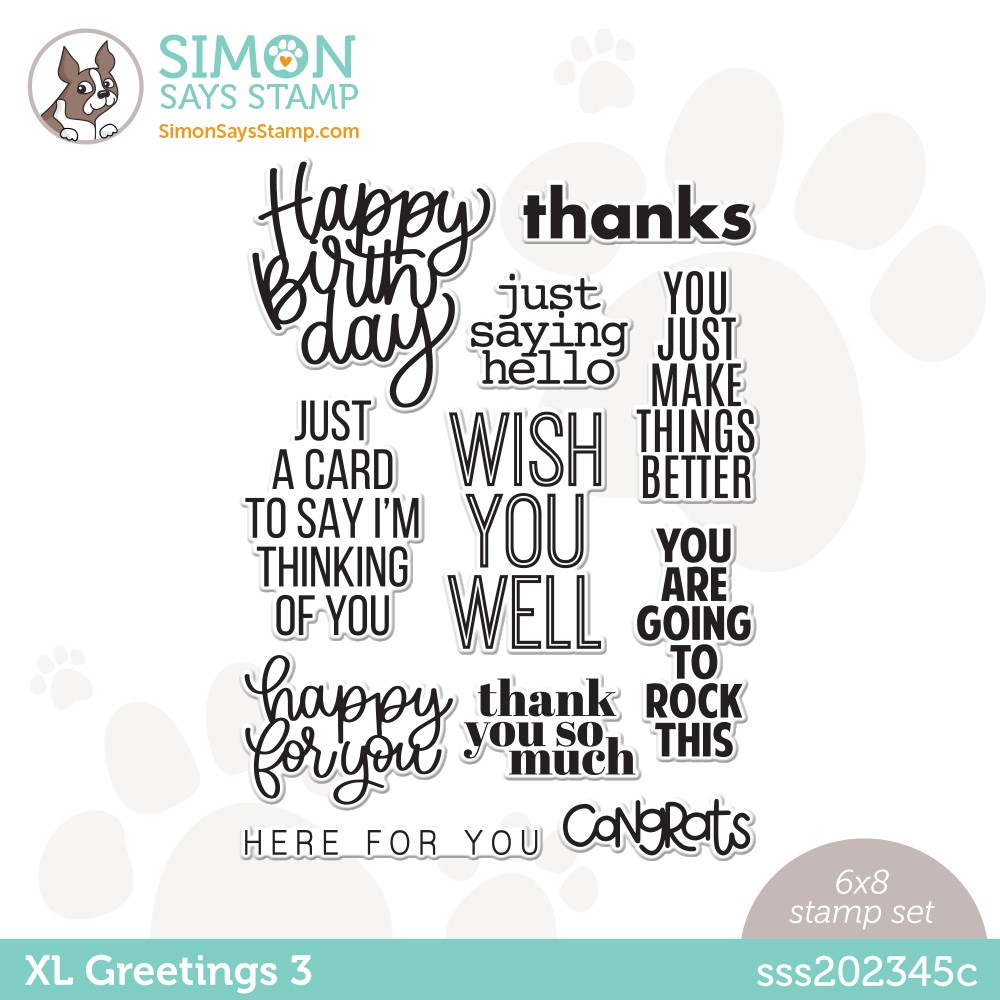 Simon Says Clear Stamps XL GREETINGS 3 sss202345c Stamptember zoom image