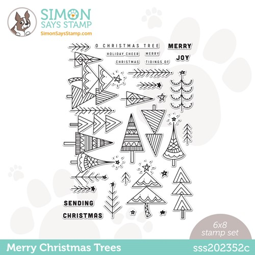 Simon Says Clear Stamps MERRY CHRISTMAS TREES sss202352c Stamptember Preview Image