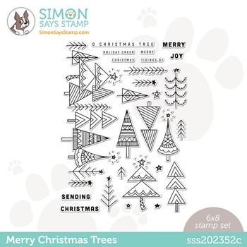 Simon Says Clear Stamps MERRY CHRISTMAS TREES sss202352c Stamptember