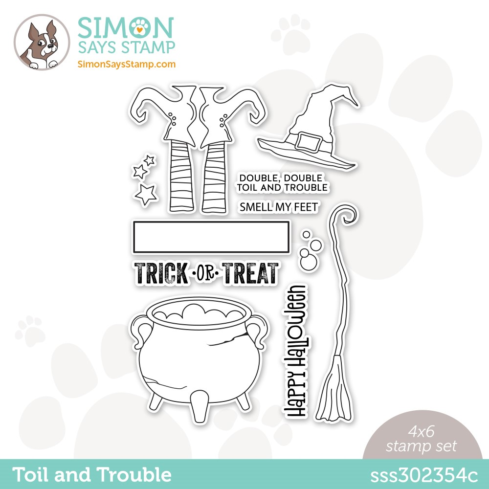 Simon Says Stamp Toil and Trouble Clear Stamp Set