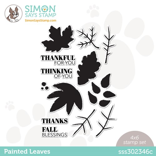 Simon Says Clear Stamps PAINTED LEAVES sss302346c Stamptember Preview Image