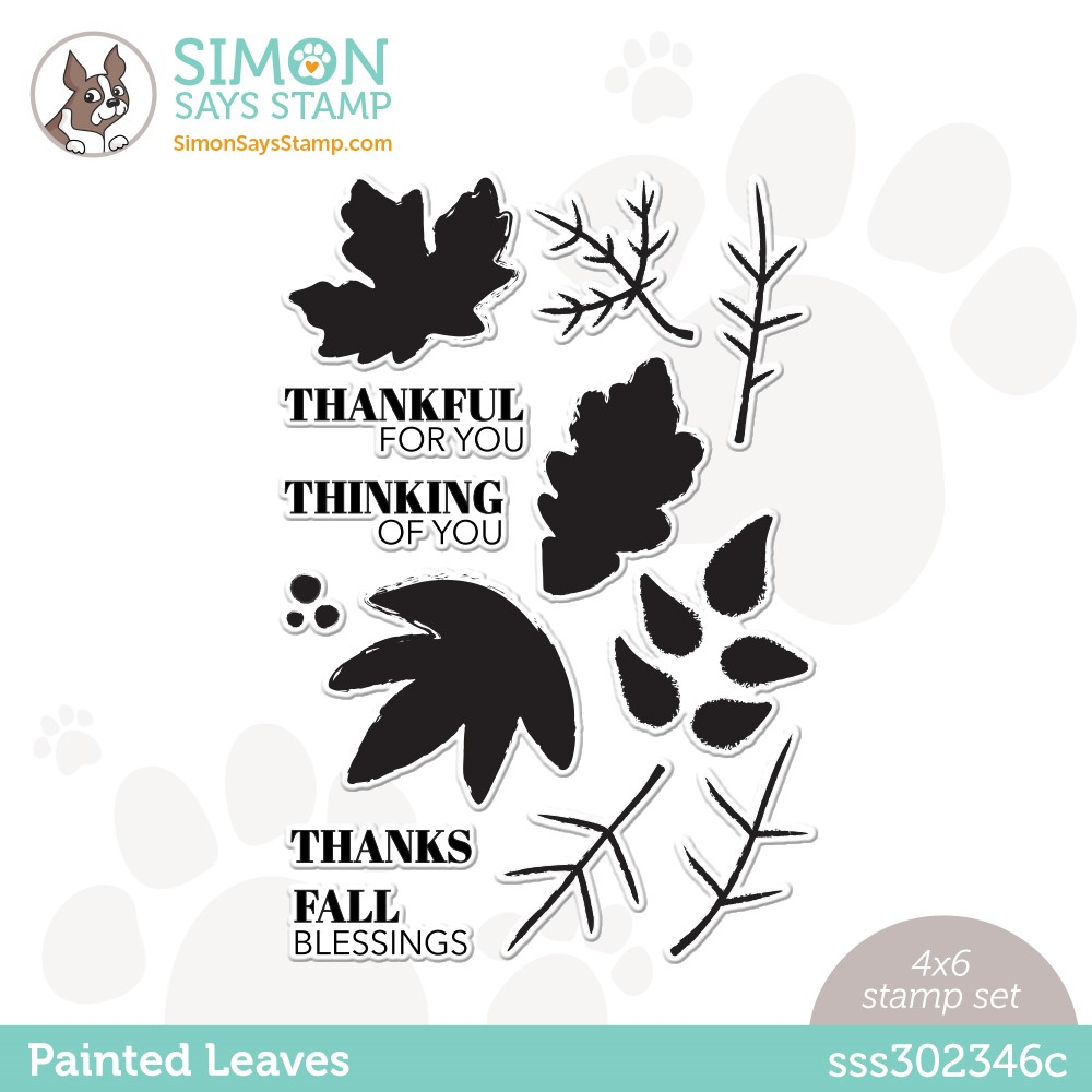Simon Says Clear Stamps PAINTED LEAVES sss302346c Stamptember zoom image