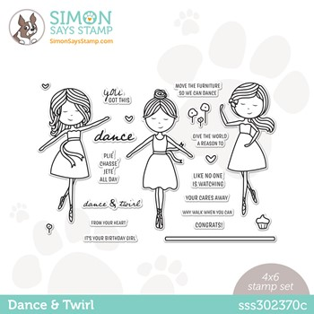 Simon Says Clear Stamps DANCE AND TWIRL sss302370c Stamptember *