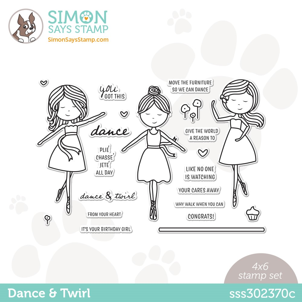 Simon Says Clear Stamps DANCE AND TWIRL sss302370c Stamptember * zoom image