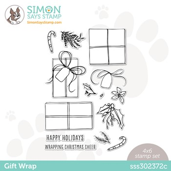 Simon Says Clear Stamps GIFT WRAP sss302372c Stamptember