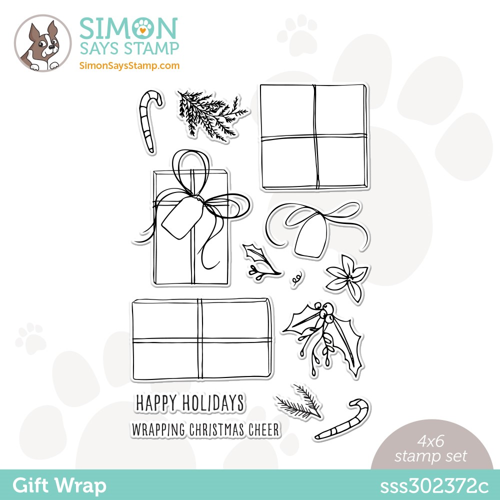 Simon Says Clear Stamps GIFT WRAP sss302372c Stamptember zoom image