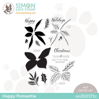 Simon Says Clear Stamps HAPPY POINSETTIA sss302371c Stamptember