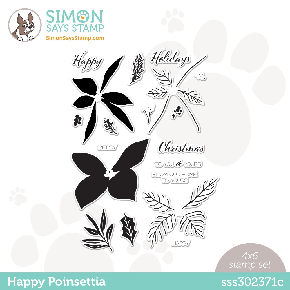 Simon Says Clear Stamps HAPPY POINSETTIA sss302371c Stamptember zoom image