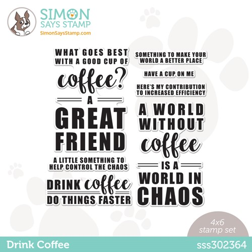 Simon Says Clear Stamps DRINK COFFEE sss302364 Stamptember Preview Image