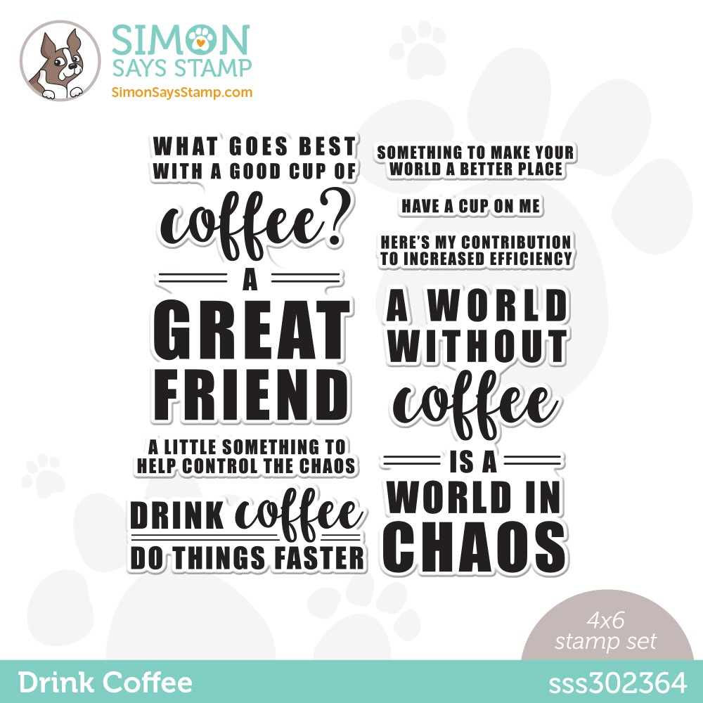 Simon Says Clear Stamps DRINK COFFEE sss302364 Stamptember zoom image