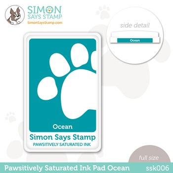 Simon Says Stamp Pawsitively Saturated Ink Pad OCEAN ssk006 Stamptember