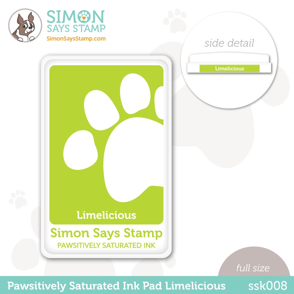 Simon Says Stamp Pawsitively Saturated Ink Pad LIMELICIOUS ssk008 Stamptember zoom image