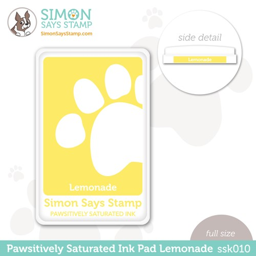 Simon Says Stamp Pawsitively Saturated Ink Pad LEMONADE ssk010 Stamptember Preview Image