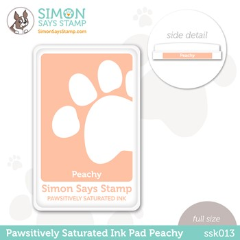 Simon Says Stamp Pawsitively Saturated Ink Pad PEACHY ssk013 Stamptember