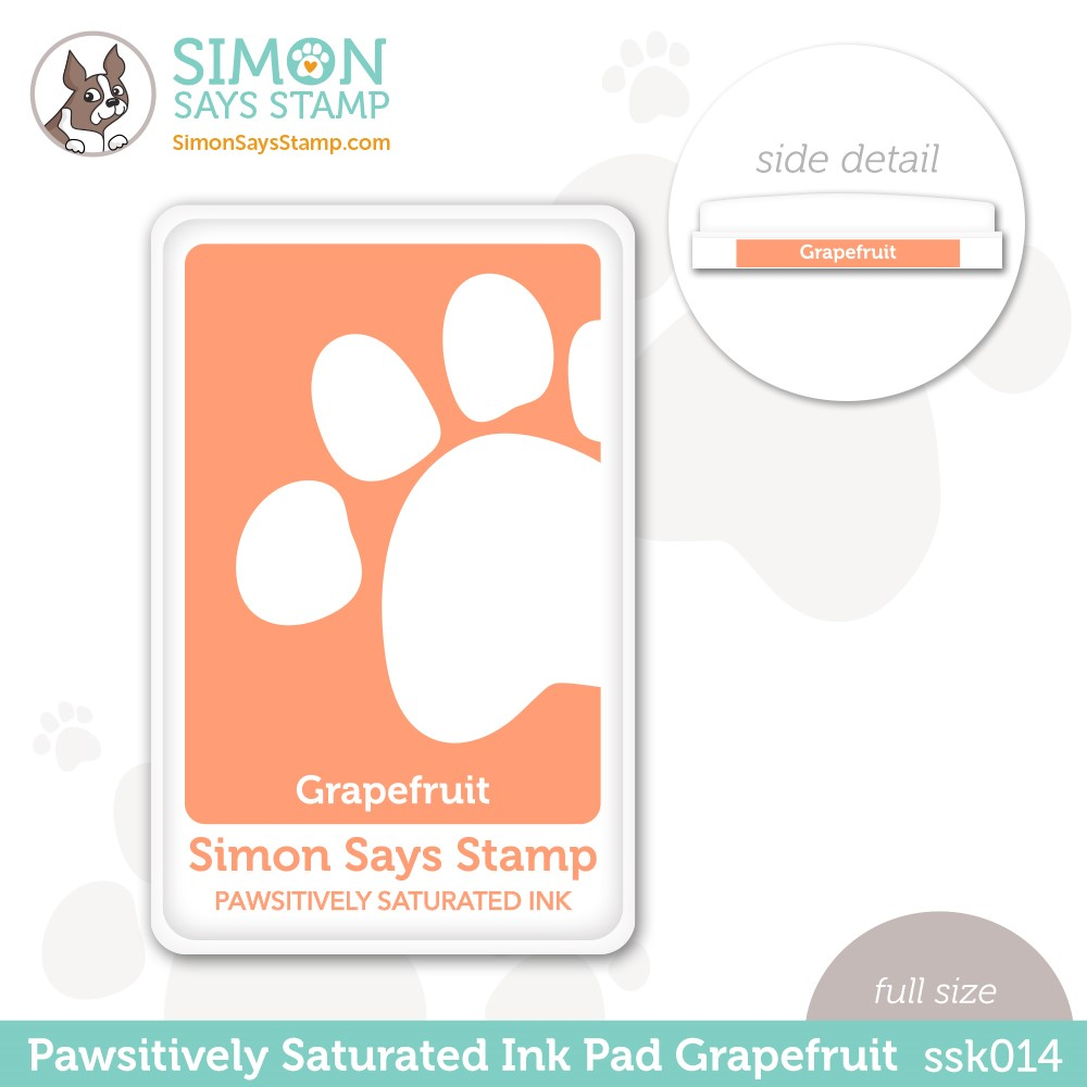 Simon Says Stamp Pawsitively Saturated Ink Pad GRAPEFRUIT ssk014 Stamptember zoom image