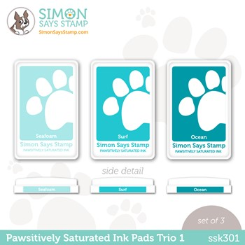 Simon Says Stamp Pawsitively Saturated Ink TRIO 1 ssk301 Stamptember
