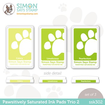 Simon Says Stamp Pawsitively Saturated Ink TRIO 2 ssk302 Stamptember