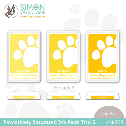 RESERVE Simon Says Stamp Pawsitively Saturated Ink TRIO 3 ssk303 Stamptember Preview Image