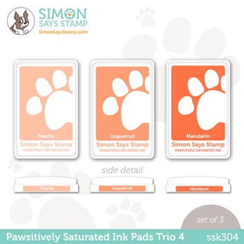 Simon Says Stamp Pawsitively Saturated Ink TRIO 4 ssk304 Stamptember