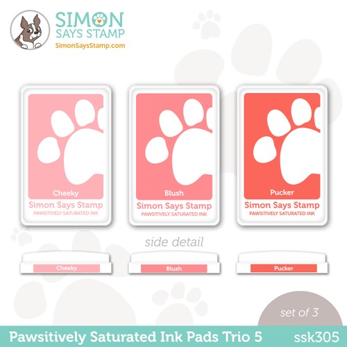 Simon Says Stamp Pawsitively Saturated Ink TRIO 5 ssk305 Stamptember Preview Image