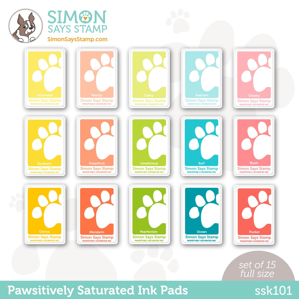 RESERVE Simon Says Stamp Pawsitively Saturated Ink Set GRADIENT 1 ssk101 Stamptember zoom image
