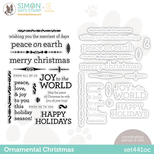 CZ Design Stamps and Dies ORNAMENTAL CHRISTMAS set441oc Stamptember Preview Image