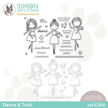 Simon Says Stamps and Dies DANCE AND TWIRL set428dt Stamptember