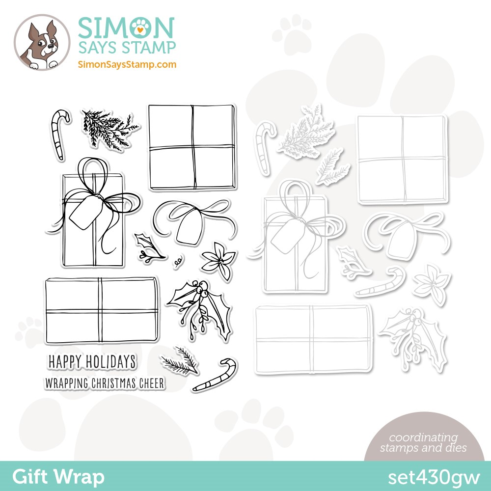 Simon Says Stamps and Dies GIFT WRAP set430gw Stamptember zoom image