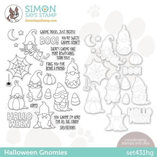 Simon Says Stamps and Dies HALLOWEEN GNOMIES set431hg Stamptember Preview Image