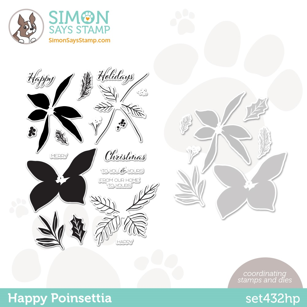 Simon Says Stamps and Dies HAPPY POINSETTIA set432hp Stamptember zoom image