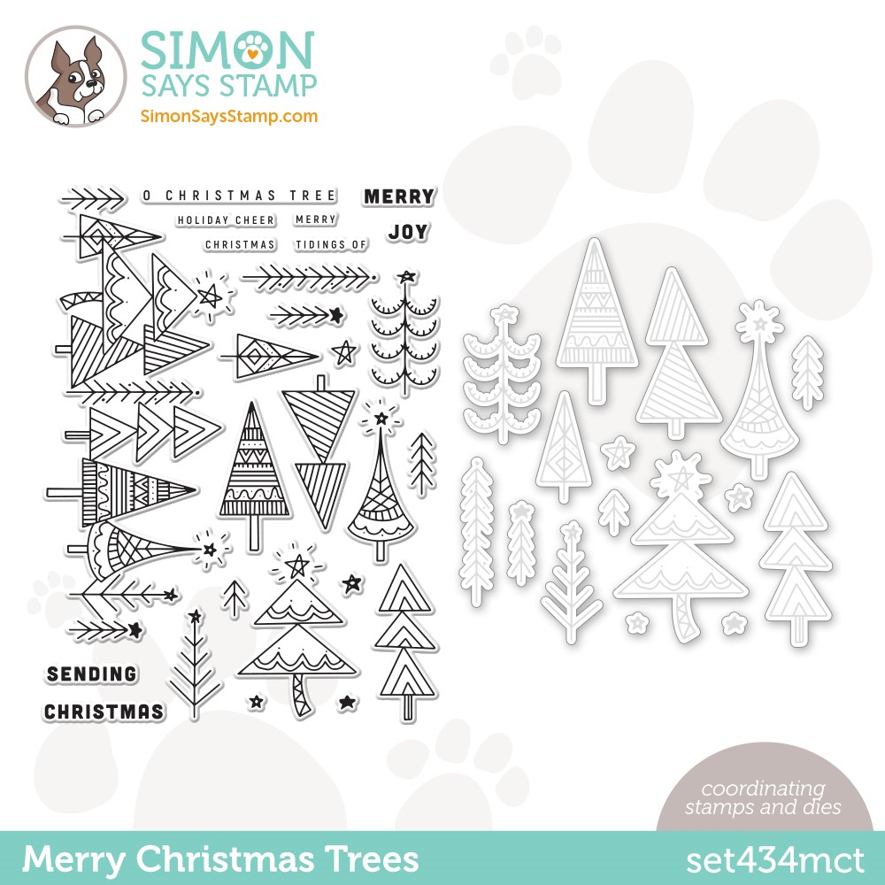 Simon Says Stamps and Dies MERRY CHRISTMAS TREES set434mct Stamptember zoom image