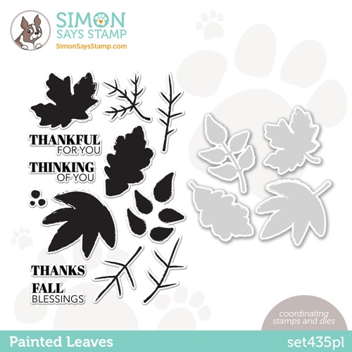 Simon Says Stamps and Dies PAINTED LEAVES set435pl Stamptember Preview Image