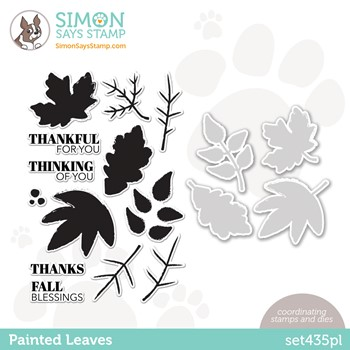 RESERVE Simon Says Stamps and Dies PAINTED LEAVES set435pl Stamptember