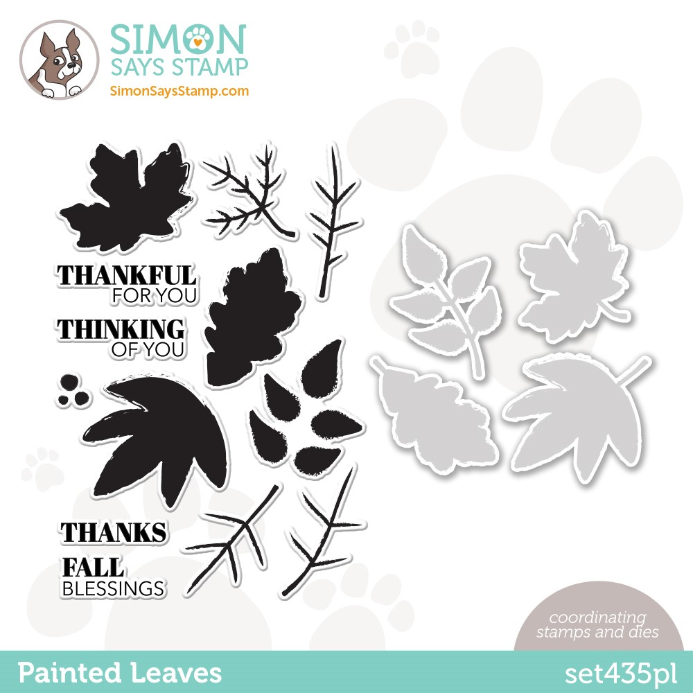 Simon Says Stamps and Dies PAINTED LEAVES set435pl Stamptember zoom image