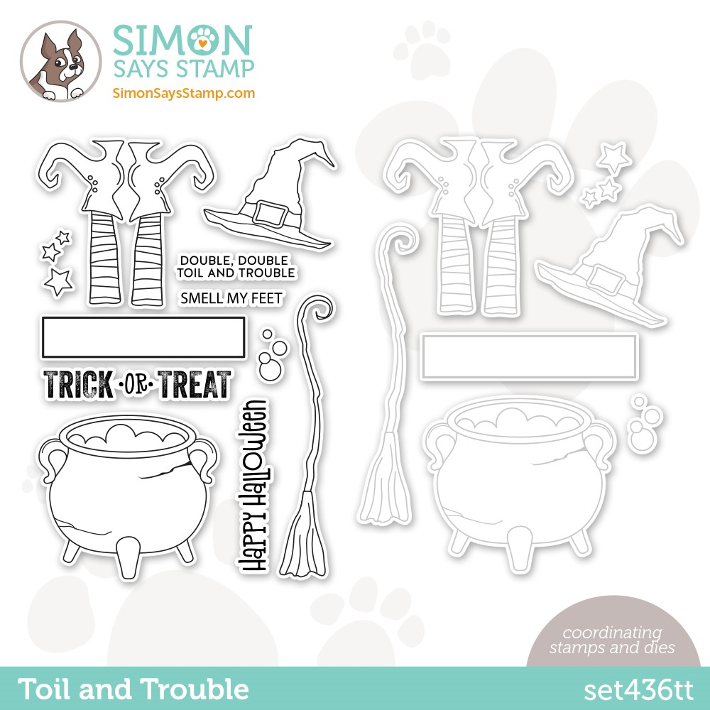 Simon Says Stamps and Dies TOIL AND TROUBLE set436tt Stamptember zoom image