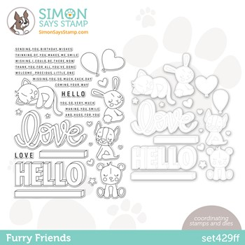 Simon Says Stamps and Dies FURRY FRIENDS set429ff Stamptember