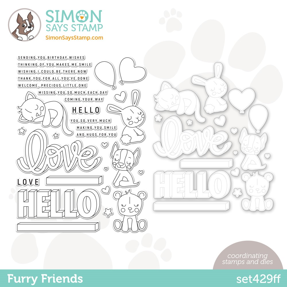 Simon Says Stamps and Dies FURRY FRIENDS set429ff Stamptember zoom image