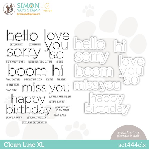 CZ Design Stamps and Dies CLEAN LINE XL set444clx Stamptember Preview Image
