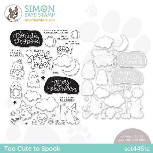 Simon Says Stamps and Dies TOO CUTE TO SPOOK set445tc Stamptember Preview Image