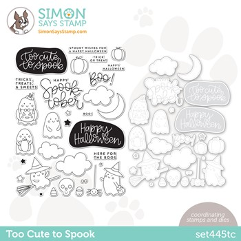 RESERVE Simon Says Stamps and Dies TOO CUTE TO SPOOK set445tc Stamptember