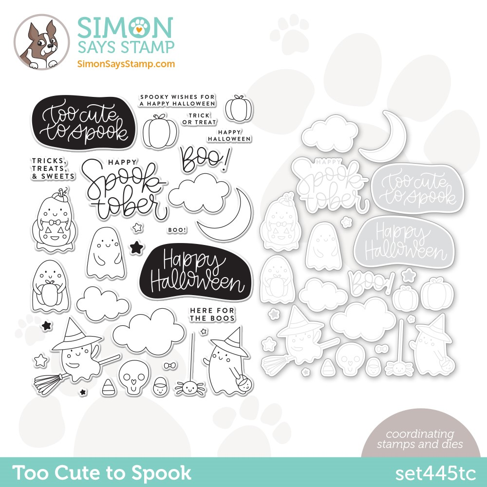 Simon Says Stamps and Dies TOO CUTE TO SPOOK set445tc Stamptember zoom image